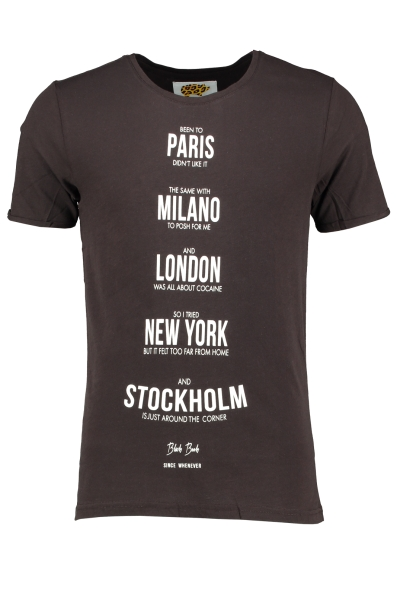 BEEN TO T-SHIRT i gruppen HERR / ÖVERDELAR / T-SHIRTS - LINNEN / T-SHIRTS hos Vingåkers Factory Outlet Webshop (BLACK_28229_1068r)