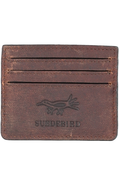 SUEDEBIRD ROSS CARD HOLDER i gruppen HERR / ACCESSOARER / PLÅNBÖCKER hos Vingåkers Factory Outlet AB (BROWN_109745_SB17454000r)