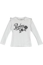 PRINTED T-SHIRT WITH RUFFLES