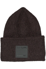 MOHAIR BEANIE WITH PATCH