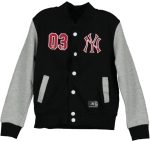 YTH FLEECE LETTERMAN NY