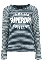 AMOUR STRIPE GRAPHIC TOP