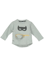 SWEATER BABY GRÅMELANGE BAT