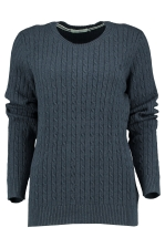 PEYTON CABLE RIB CREW NECK KNI