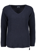 Nautic Ribbed V-Neck Knit