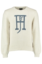 ROUND NECK LOGO KNIT JUMPER