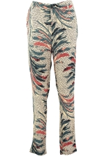 FEATHER PRINTED PANTS