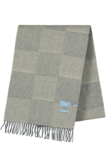 CHECKED SCARF SOFT MONGOLIAN V