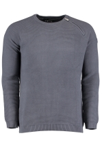 RACE KNITTED ZIP CREWNECK