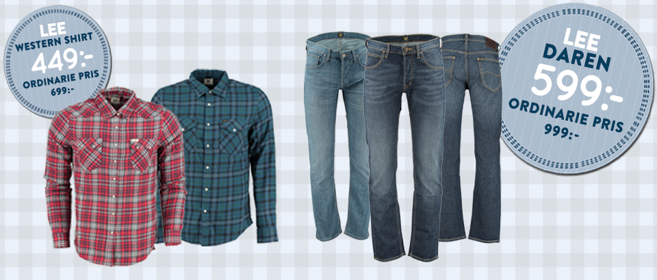 Lee Western Shirt 449:- Ordinarie 699:- Lee Daren 599:- Ordinarie 999:-