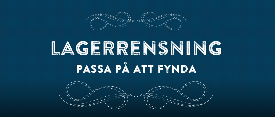 LAGERRENSNING!!