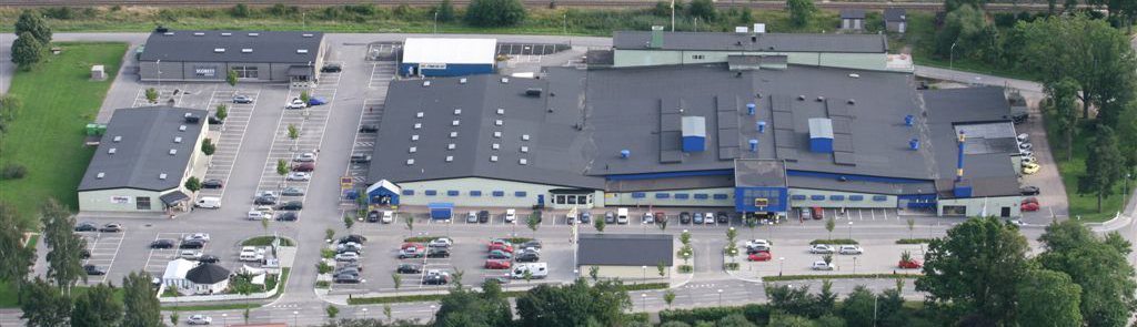 Flygfoto Vingåkers Factory outlet AB