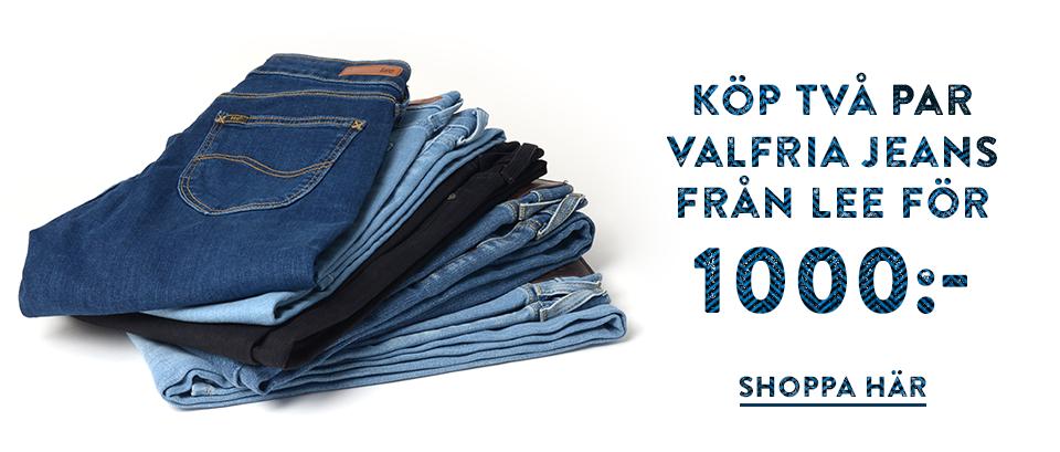Två par jeans från Lee för 1000:-