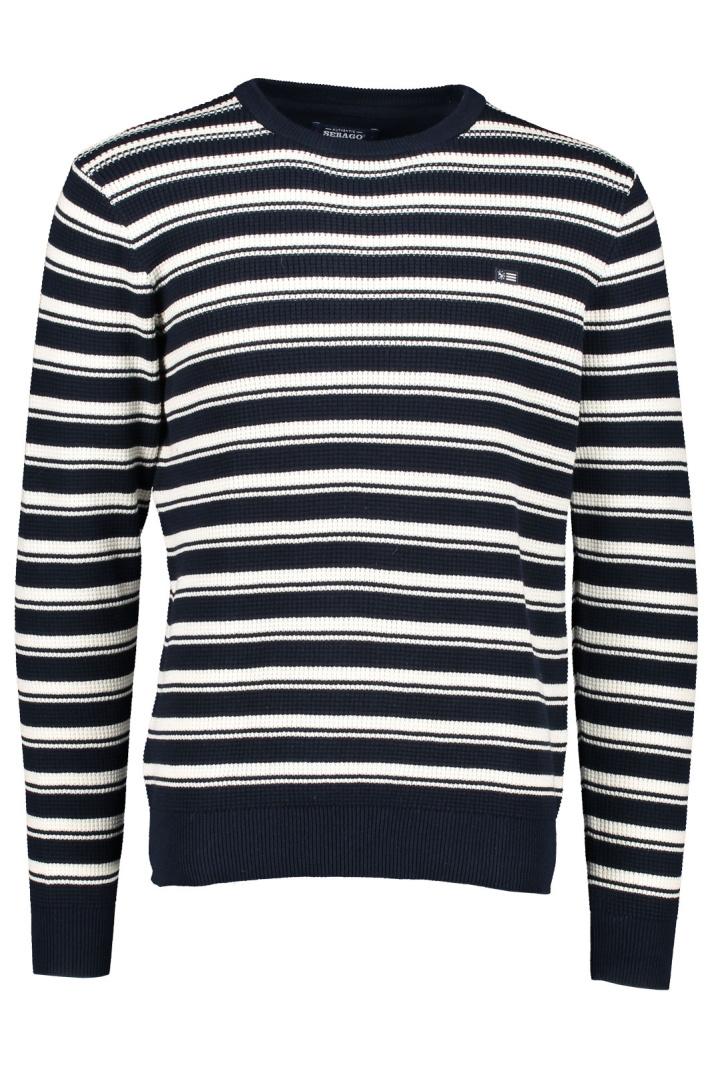 SEBAGO | Cole Striped Crew Knit | RetailPro | MÄRKESKLÄDER
